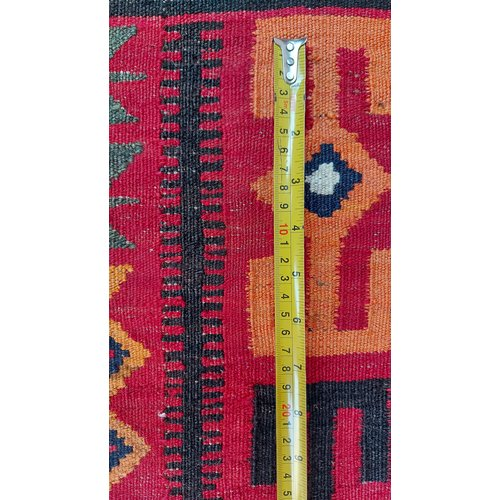 exclusive  Vloerkleed Tapijt Kelim 475x278 cm Multicolor Kleed Hand Geweven Kilim