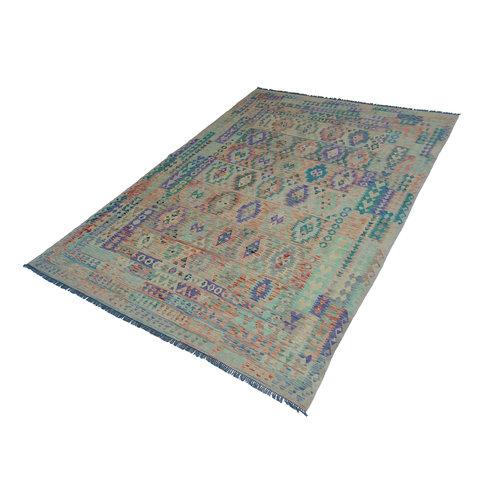 exclusive Kelim Teppich 367x270 cm Multicolor afghan kilim teppich