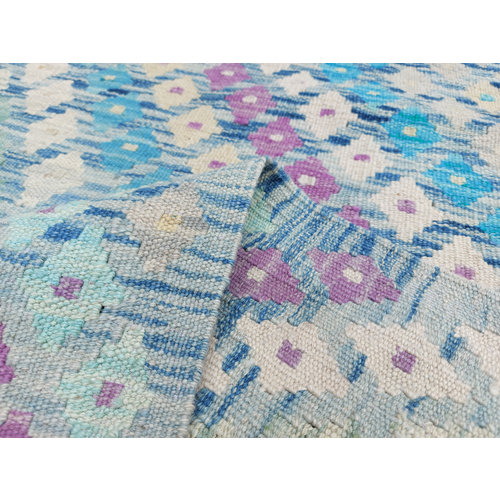 9'84x9'05 Sheep Wool Handwoven Multicolor Traditional Afghan kilim Area Rug
