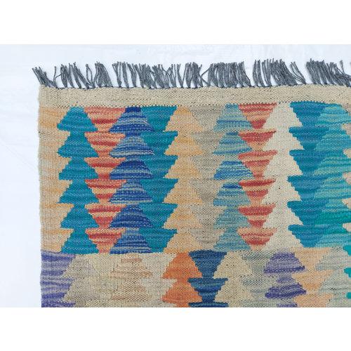 9'91x8'10 Sheep Wool Handwoven Multicolor Traditional Afghan kilim Area Rug