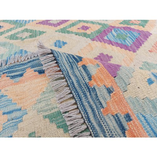 9'84x8'43 Sheep Wool Handwoven Multicolor Traditional Afghan kilim Area Rug