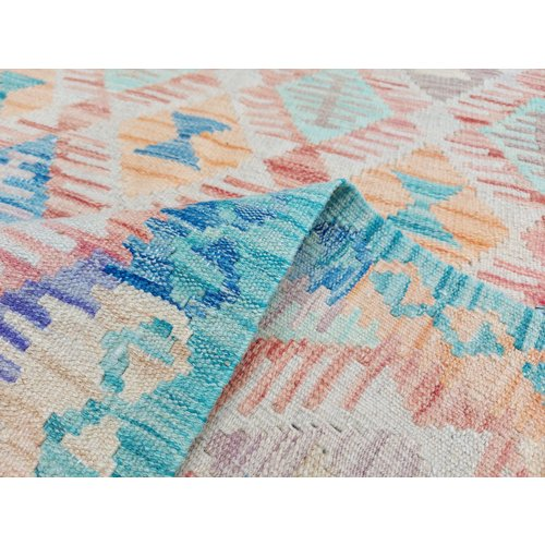 10'27x7'94 Sheep Wool Handwoven Multicolor Traditional Afghan kilim Area Rug