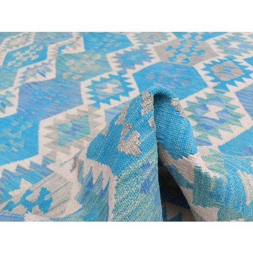 exclusive  Vloerkleed Tapijt Kelim 287x253 cm Multicolor Kleed Hand Geweven Kilim