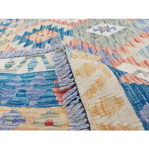 exclusive  Vloerkleed Tapijt Kelim 309x243 cm Multicolor Kleed Hand Geweven Kilim