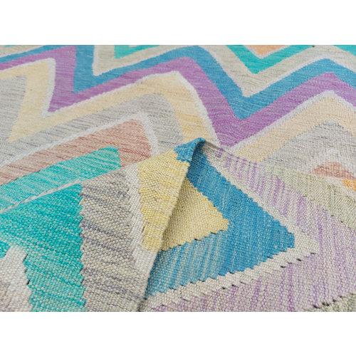 exclusive Kelim Teppich 298x258 cm Multicolor afghan kilim teppich