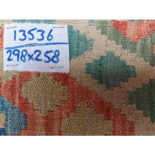 9'78x8'47 Sheep Wool Handwoven Multicolor Traditional Afghan kilim Area Rug