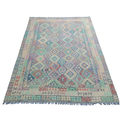 exclusive Kelim Teppich 353x245  cm Multicolor afghan kilim teppich