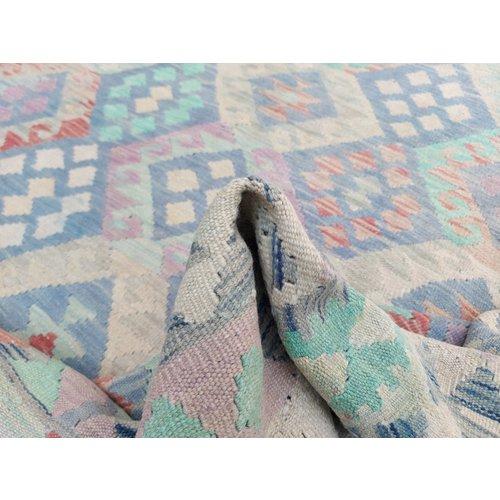 11'58x8'04 Sheep Wool Handwoven Multicolor Traditional Afghan kilim Area Rug