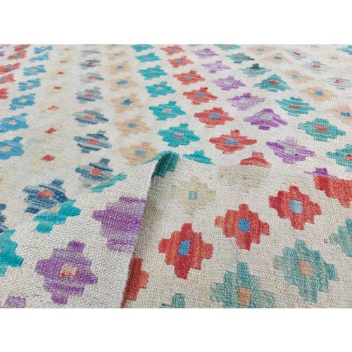 exclusive Kelim Teppich 296x243 cm Multicolor afghan kilim teppich