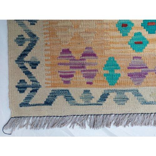 11'48x8'36 Sheep Wool Handwoven Multicolor Traditional Afghan kilim Area Rug