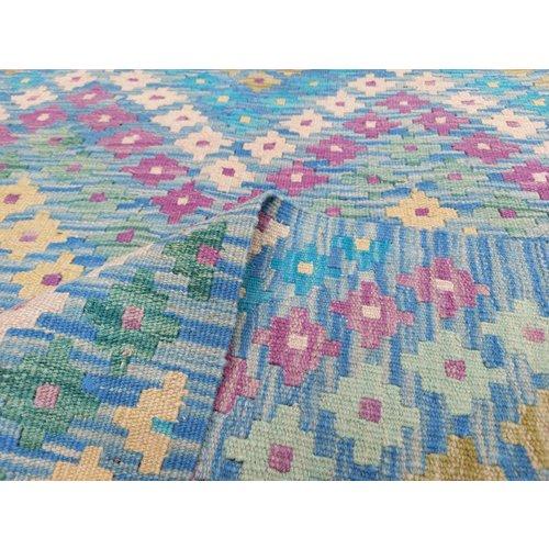 9'71x8'24 Sheep Wool Handwoven Multicolor Traditional Afghan kilim Area Rug