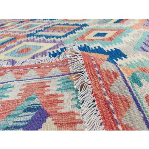 9'97x7'94 Sheep Wool Handwoven Multicolor Traditional Afghan kilim Area Rug