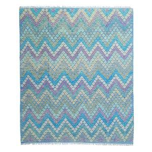 exclusive  Vloerkleed Tapijt Kelim 296x251 cm Multicolor Kleed Hand Geweven Kilim