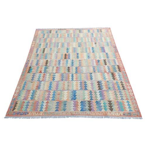 exclusive Kelim Teppich 302x253 cm Multicolor afghan kilim teppich