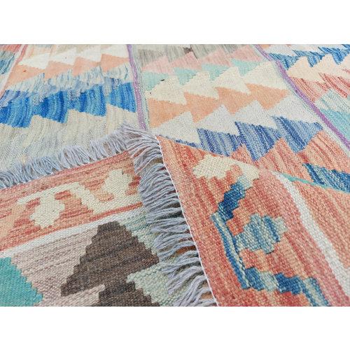 9'91x8'30 Sheep Wool Handwoven Multicolor Traditional Afghan kilim Area Rug