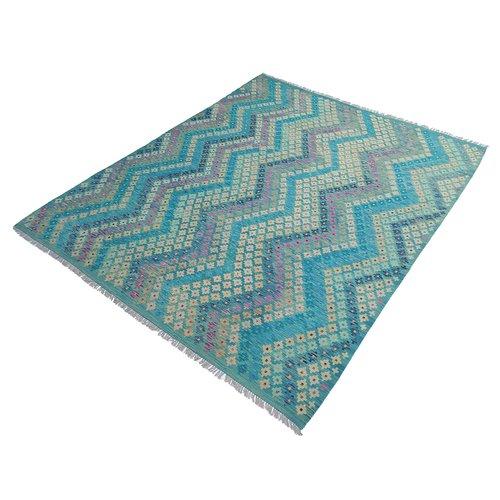 exclusive  Vloerkleed Tapijt Kelim 301x258 cm Multicolor Modern Kleed Hand Geweven Kilim