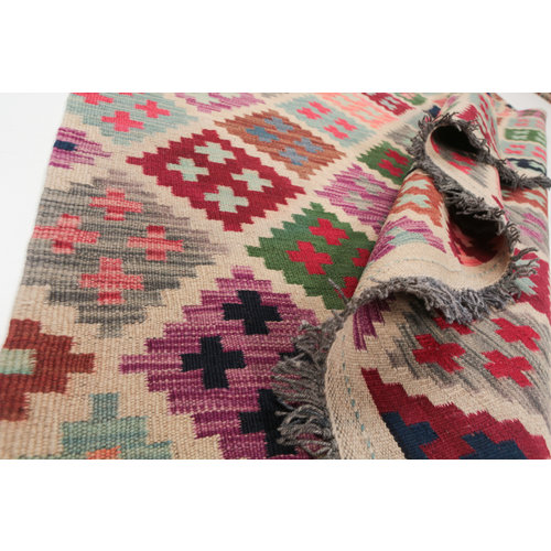 Kelim kleed 205x150cm Multicolor Kleed Hand Geweven