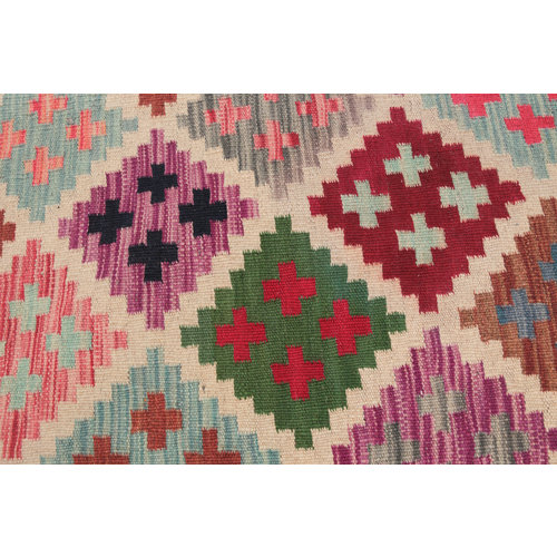 kilim carpet 205x150cm  Handwoven Multicolor Traditional Afghan