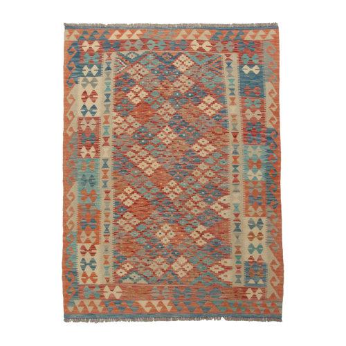 kilim carpet 195X145 0cm Handwoven Multicolor Traditional Afghan