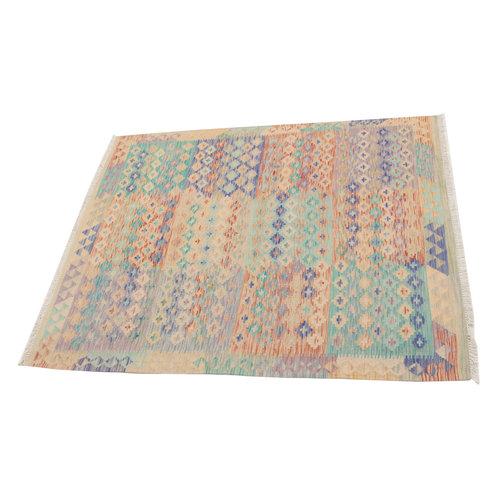 Kelim kleed 191X160 cm   Multicolor Kleed Hand Geweven