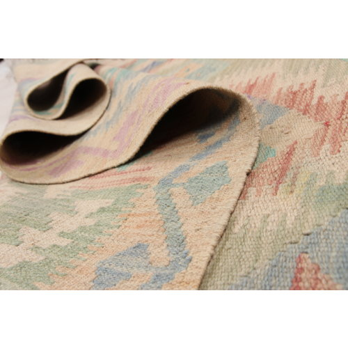 Kelim teppich 192X153cm Multicolor afghan