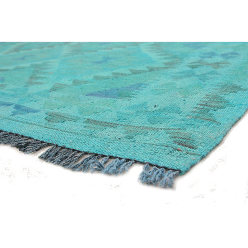 kilim carpet 203X140cm Handwoven Multicolor Traditional Afghan