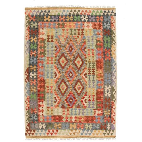 Kelim teppich 195X144 cm Multicolor afghan