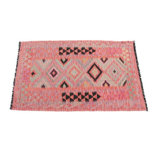 153x104  cm Handgemacht afghanisch traditionell Wolle Kelim Teppich