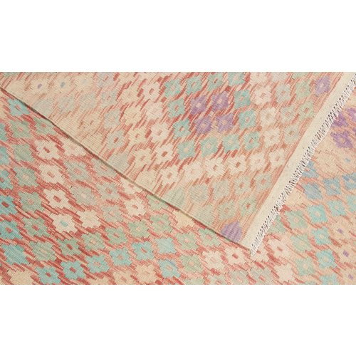 6'4x5'1 Handwoven Afghan Kilim Area Rug Multicolor Wool Carpet