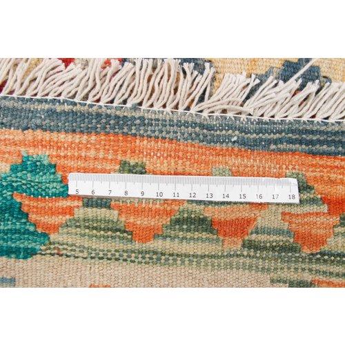 6'5x4'11 Handwoven Afghan Kilim Area Rug Multicolor Wool Carpet