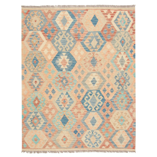 6'5x5' Handwoven Afghan Tribal Kilim Area Rug Wool Kelim Carpet