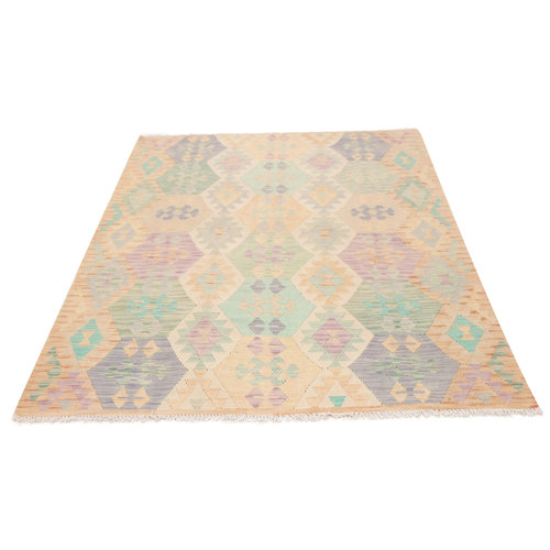 6'8x4'11 Handwoven Afghan Tribal Kilim Area Rug Wool Kelim Carpet