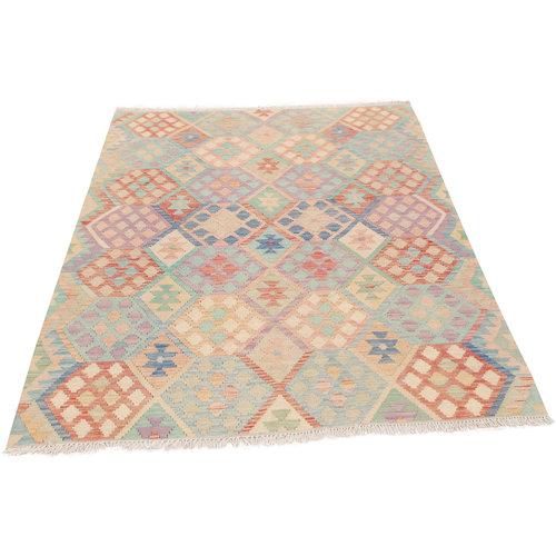 6'6x4'10 Handmade Afghan Tribal Kilim Area Rug Wool Kelim Carpet