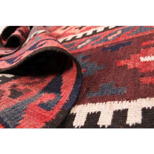 246x143 cm Handgeweven Traditioneel Afghaans Kelim Kleed Wol Tapijt