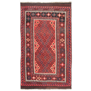 8'x4'61 Handmade Afghan Tribal Kilim Area Rug Wool Kelim Carpet