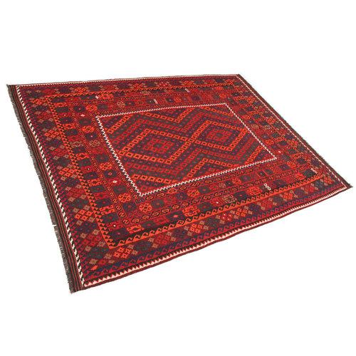 10'11x8'4 Handwoven Afghan Tribal Kilim Rug Wool Kelim Carpet