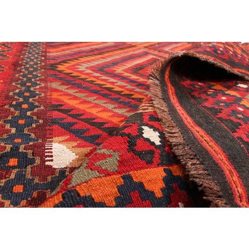 273x208 cm Handgeweven Traditioneel Afghaans Kelim Kleed Wol Tapijt