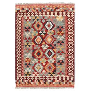 176x123 cm Handgemaakt Afghaans Kelim Kleed Oosters Tapijt
