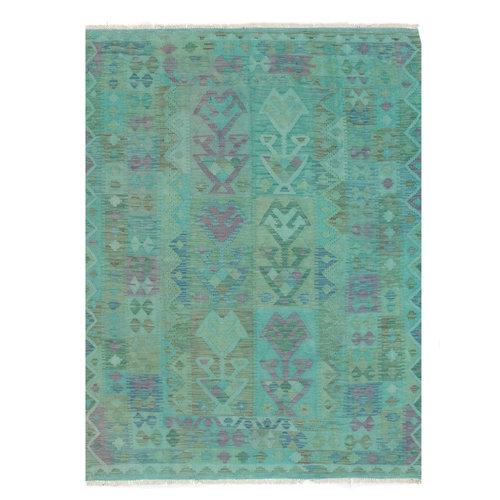 197x147 cm Handgemaakt Afghaans Kelim Kleed Oosters Tapijt