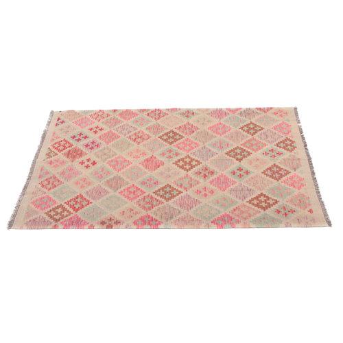 6'6x4'11 Handwoven Afghan Kilim Area Rug Wool Oriental Carpet