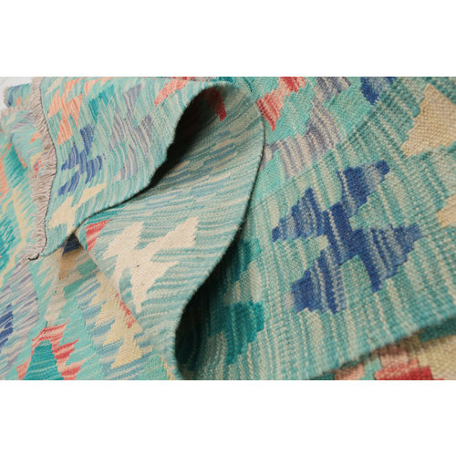 6'7x4'11 Handwoven Afghan Kilim Area Rug Wool Oriental Carpet
