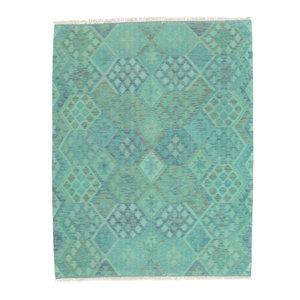 194x151 cm Handgemaakt Afghaans Kelim Kleed Oosters Tapijt