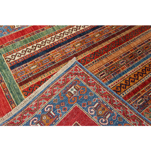 240x168 cm Kazak Rug Fine Hand knotted  Wool Oriental Carpet