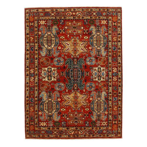 238x174 cm Kazak Rug Fine Hand knotted  Wool Oriental Carpet