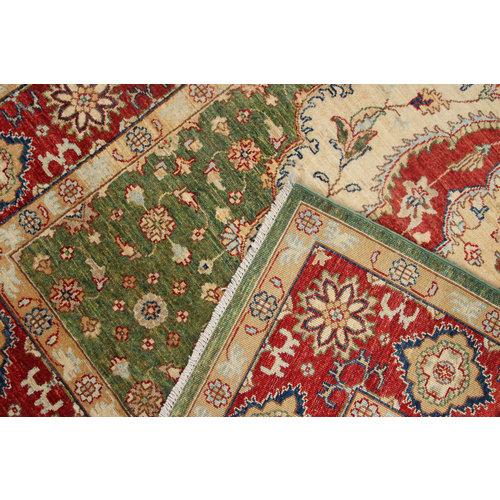 242x171 cm Kazak Rug Fine Hand knotted  Wool Oriental Carpet