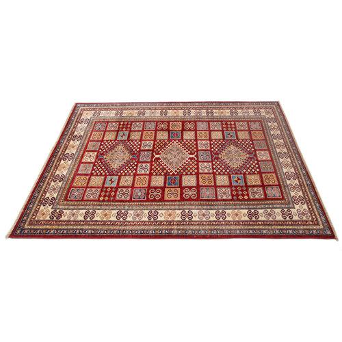231x171 cm Kazak Rug Fine Hand knotted  Wool Oriental Carpet