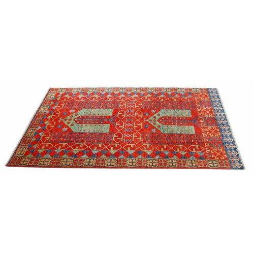 245x155 cm Kazak Rug Fine Hand knotted  Wool Oriental Carpet