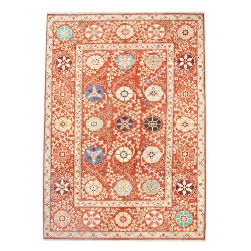 242x177 cm  Kazak Rug Fine Hand knotted  Wool Oriental Carpet