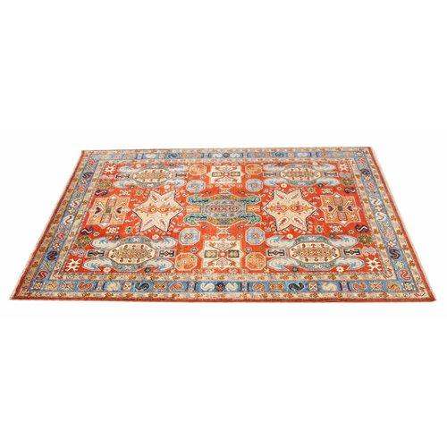 262x168 cm  kazak tapijt fijn  Handgeknoopt wol