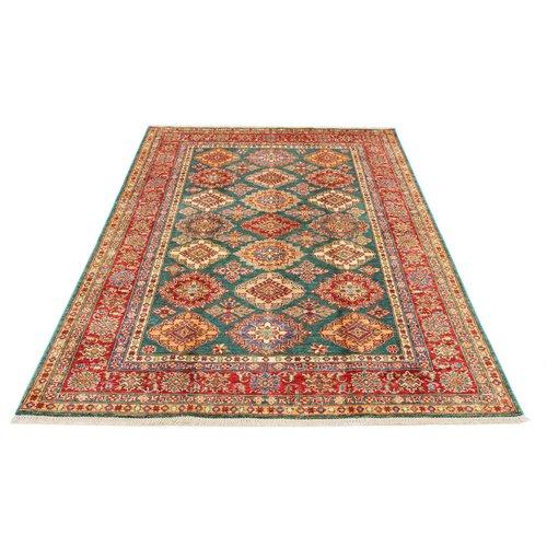 241x166 cm Kazak Rug Fine Hand knotted  Wool Oriental Carpet